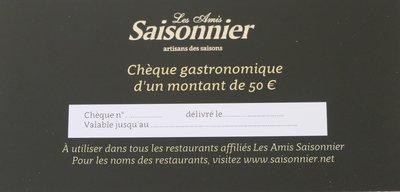Chèque gastronomique 50 euro