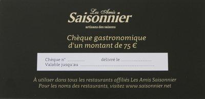 Chèque gastronomique 75 euro