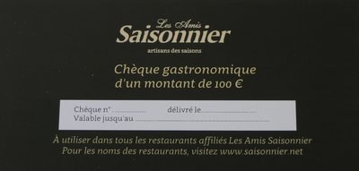 Chèque gastronomique 100 euro